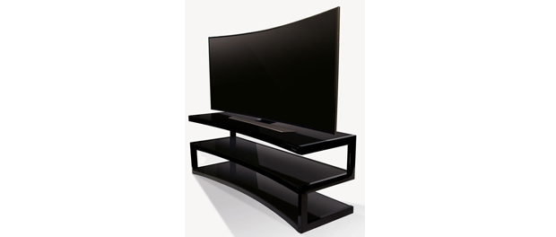 norstone esse curve un meuble pour les crans tv. Black Bedroom Furniture Sets. Home Design Ideas