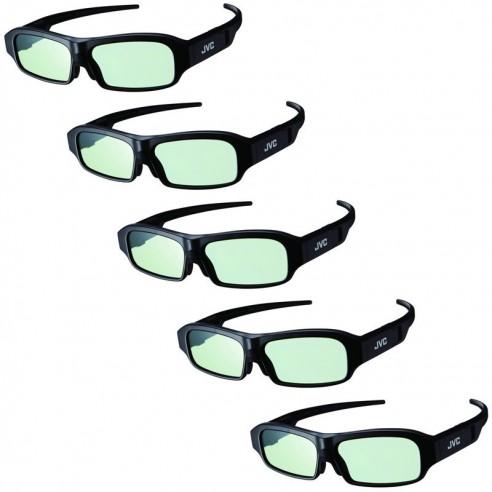 Pack Family JVC - 5x paires de lunettes 3D JVC PK-AG3