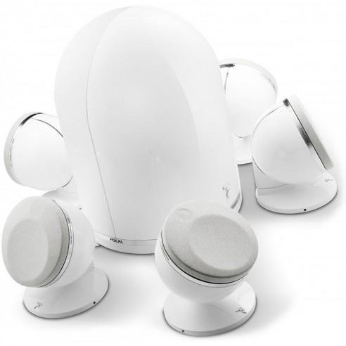 Focal Dôme - Enceinte compact le Pack 5.1 Noir ou blanc ou rouge