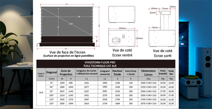 vividstorm floorPro UST ALR dimensions